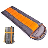 Sleeping bag, packable backpacking sleeping bags with ultralight lightweight, 2 bags spliced as a big double sleeping bag for outdoor travel, hiking, camping in all seasons (orange color right zipper) Review