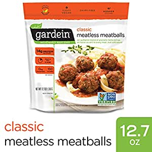 Gardein Classic Meatless Meatballs, Protein Packed Goodness, Ready in 8 Minutes, 12.7 Ounces (Frozen)