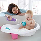 Shnuggle Baby Bath Tub - Compact Support Seat for Newborns, Wash Infants and Make Bath Time Easy, 0-12m, Grey