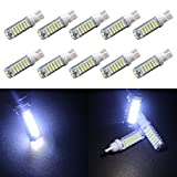 Grandview Super Bright 700 Lumens 2825 T10 194 168 192 921 W5W 7014 20SMD High Power White LED Light Bulbs Interior Dome Map Parking Signal LED Bulb Lights for Car, Truck, Motorcycle, Scooter, Trailer, RV, Boat, Marine (Pack of 10)