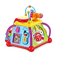 PowerTRC Musical Activity Cube Play Center with Lights w/ Lights, Sounds & 15 Functions