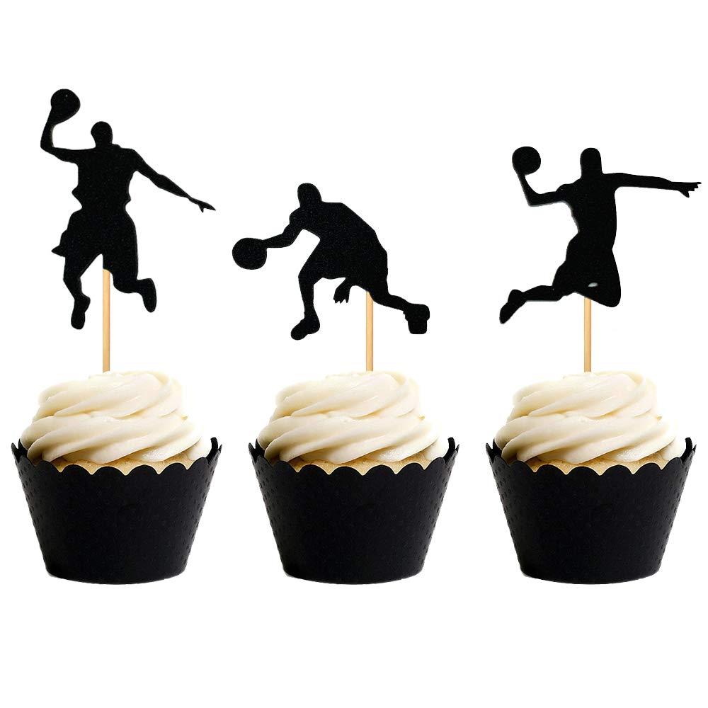 18 Pcs Jevenis Nba Star Cupcake Topper Basketball Cake Toppers Basketball Player Cupcake Picks Basketball Star Cupcake Decoration For Basketball Theme