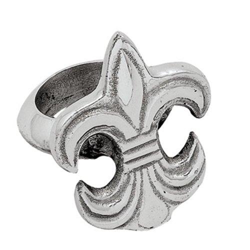 Elegant Fleur de Lis Napkin Rings Set of 4 ()