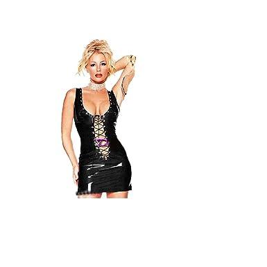 GGTBOUTIQUE Damen Kleid Schwarz Schwarz Einheitsgröße 36-38 Gr.  Einheitsgröße 36-38,