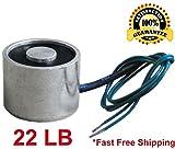 Electric Lifting Magnet 12V, 10 kg/22 lb. Electromagnet Solenoid, 30 mm