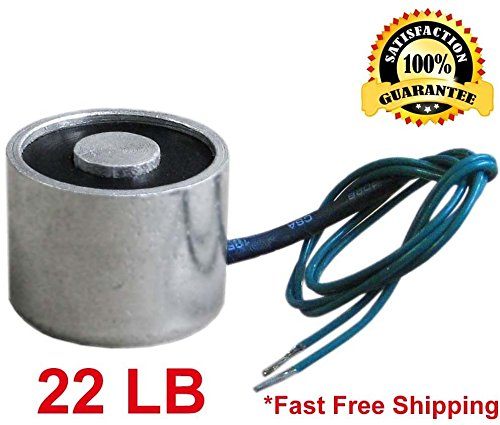 Electric Lifting Magnet 12V, 10 kg/22 lb. Electromagnet Solenoid, 30 mm