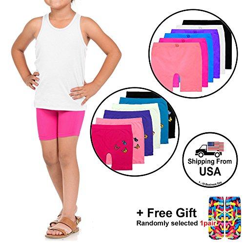 BASICO Girls Dance, Bike Shorts 6, 12 Value Packs - for Sports, Play Or Under Skirts