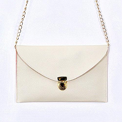 UltiFit (TM) para mujer del embrague del sobre monedero de la cadena del bolso de la se?ora hombro del totalizador del bolso de mano Beige