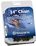 Husqvarna 24 Inch Chainsaw Chain H4684 531300624 (0.375 Inch Pitch .050 Inch Gauge)