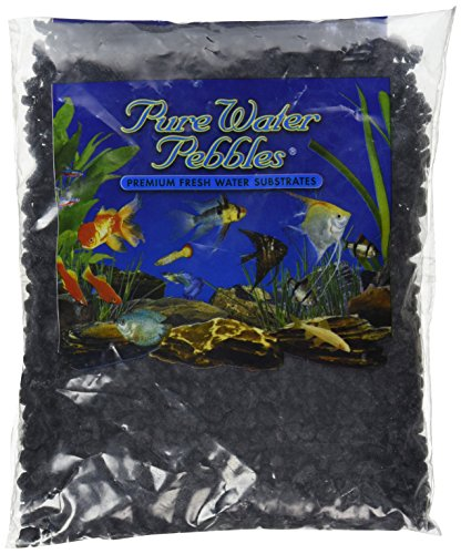 Pebbles Aquarium Gravel (Pure Water Pebbles Aquarium Gravel, 2-Pound, Jet Black)