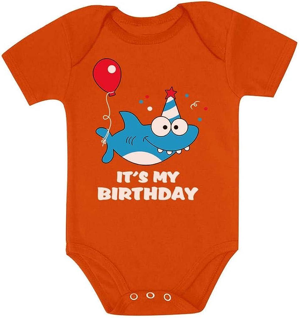 Birthday Boy or Girl Shark Outfit 1st 2nd Birthday Gift Baby Bodysuit