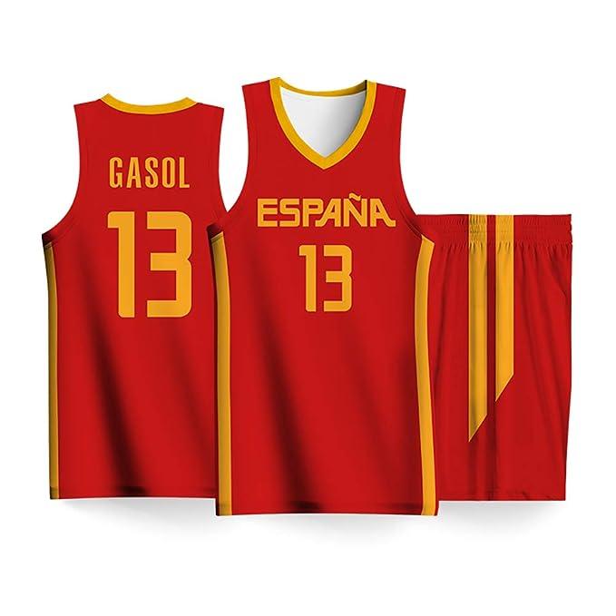 QQLONG Ricky Rubio Gasol Gómez del Sur, Uniforme de Baloncesto de ...