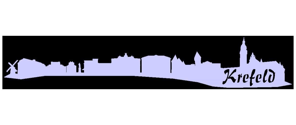 Samunshi® Aufkleber Krefeld Skyline Autoaufkleber in 9 Größen und 25 Farben (140x25cm kupfermetalleffekt) B00T3D22C4   Vielfalt
