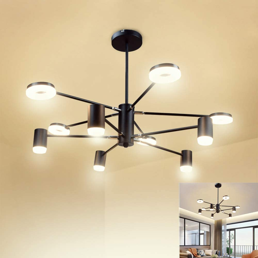 PADMA 10 Lights LED Black Ceiling Rotatable Light down to £70.99 with £15 voucher on listing @ Amazon