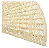 Peicees 48pcs Sandalwood The Hollow Out Printing