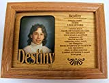 Destiny , Personal Picture Name Frame, Frame Laser Cut with Name Personality & Characteristic