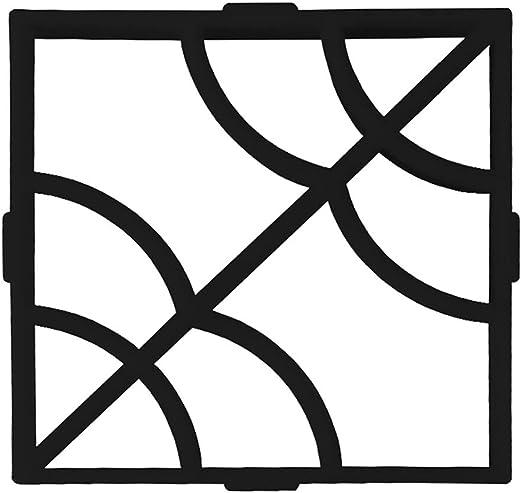 BESTOMZ DIY Molde para Cemento, Molde para Hormigón, Molde para Hacer Pavimentos/Caminos/Suelos de Jardín, Patio, Balcón, Terraza, de Plástico Resistente Negro: Amazon.es: Hogar