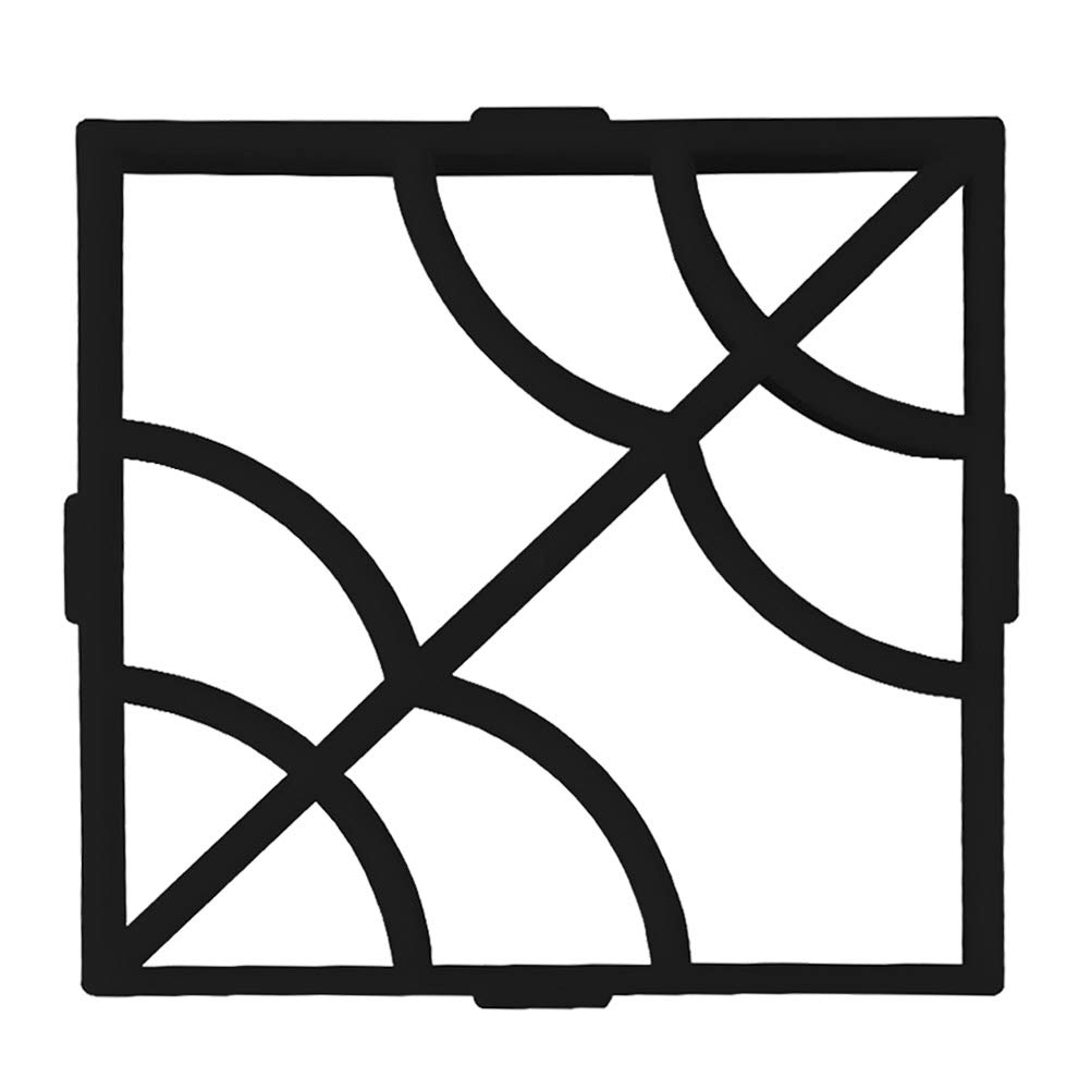 BESTOMZ DIY Molde para Cemento, Molde para Hormigó n, Molde para Hacer Pavimentos/Caminos/ Suelos de Jardí n, Patio, Balcó n, Terraza, de Plá stico Resistente Negro Molde para Hormigón Balcón de Plástico Resistente Negro
