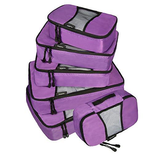 Bagpake 6 Set Packing Cubes-Travel Luggage -2 Extra large,2 Medium,2 Small (Rubix Cube Storage Bag)