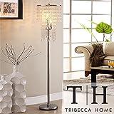 Siam Circus TRIBECCA HOME Crystal Rain 3-light Chrome Crystal Floor Lamp