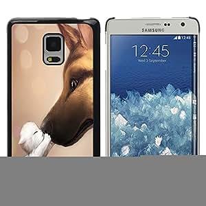 KOKO CASE / Samsung Galaxy Mega 5.8 9150 9152 / Liebe / Delgado Negro Plástico caso cubierta Shell Armor Funda Case Cover