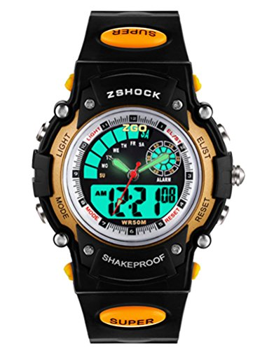 High End Analog Digital Students Kids Watch for Boys