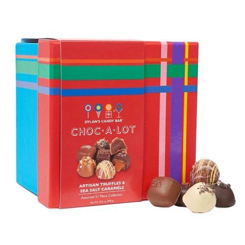 Dylan's Candy Bar Choc-A-Lot Chocolate Covered Craft Sea Salt Caramels & Truffles Mixed Assortment
