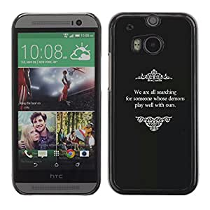 Slim Design Hard PC/Aluminum Shell Case Cover for HTC One M8 Old Movies Religious God Black White / JUSTGO PHONE PROTECTOR