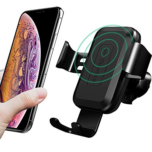 Panamalar Wireless Car Charger Mount Air Vent Phone Holder, True 7.5W Compatible with iPhone Xs/XS Max/XR/X/8/8 Plus, 10W for Samsung and other QI Enabled Devices (Standard)