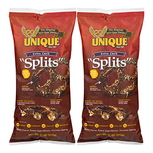 - Unique Extra Dark Pretzel Splits, 11 Oz. Bag (Two - 11 Oz. Bags)