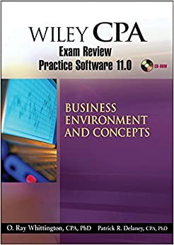 Wiley CPA Examination Review Practice Software 11.0 BEC Revised
