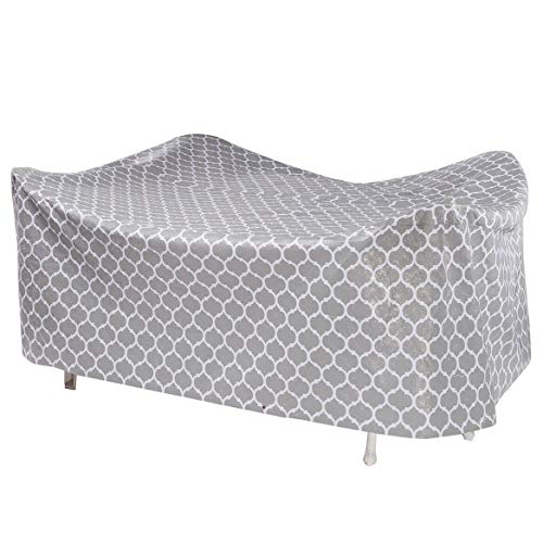 Fox Valley Traders Trellis Pattern Quilted Table Cover Oval, 108 L x 30 H x 84