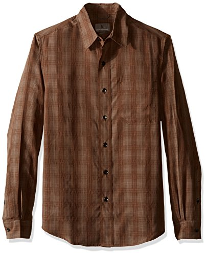 Royal Robbins Men's San Juan Plaid Long Sleeve Top,EARTH ,Large