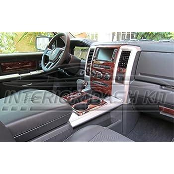 Dodge Ram 1500 2500 3500 Interior Burl Wood Dash Trim Kit Set 2006 2007 2008 Automotive