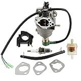 Panari Carburetor + Insulator Fuel Filter for All Power America APG3009 APG3009C APG3009N APG3075 APG6000 6000 7500 Watt Gasoline Generator