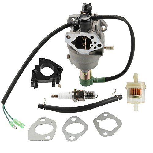 Panari Carburetor + Insulator Fuel Filter for All Power America APG3009 APG3009C APG3009N APG3075 APG6000 6000 7500 Watt Gasoline Generator by Panari
