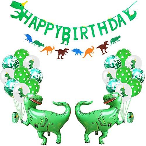 WATERMELON Dinosaurio 24PCS Feliz cumpleaños Aluminio de la ...