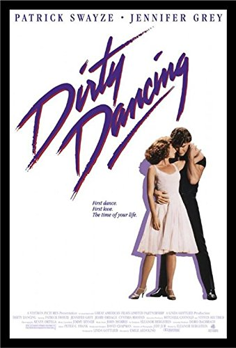 Buyartforless IF PW 49932 36x24 1.25 Black Plexi Framed Dirty Dancing 1987 36X24 Movie Art Print Poster Jennifer Grey Patrick Swayze Time of Your Life
