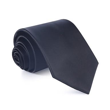 WERLM 8.5 cm de color sólido brillante lazo ancho negocio vestido ...