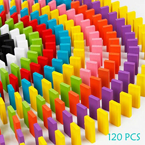 120pcs Wooden Dominos Blocks Set, Kids Game Educational - Toys & Games