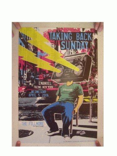 Taking Back Sunday Concert Poster The Fillmore April 5, 2006