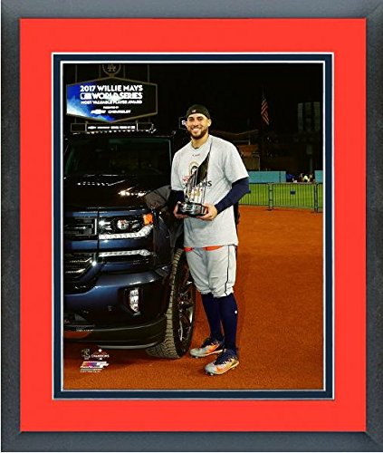 (George Springer Houston Astros 2017 World Series MVP Trophy Photo (Size: 13