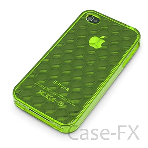 Case-FX Flex Sonic Case for iPhone 4, 4S - Electric Lime Universal Fit for AT&T, Sprint and Verizon iPhone 4, (Sonic Iphone 4s Case)