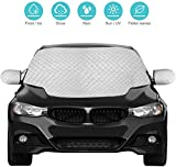 Fxexblin Car Windshield Snow Cover, SUV Magnetic Snow Cover with Two Mirror Covers, Windshield Ice Cover Dust Sun Shade Protector in All Weather (157×126cm) (Large)