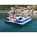 Intex Oasis Island Inflatable 5-Seater Lake/River Floating Lounge Raft | 58293EP