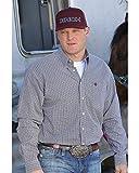 Cinch Men's Classic Fit Plaid Plain Weave Button Down Shirt White X-Large