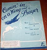 Coming In On A Wing And A Prayer 1943 RAF Air Force WW2 rare Sheet Music Popular Swing Jazz Guitar Piano Vocal