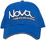 Chevy Hat Nova by Chevrolet Embroidered Logo Adjustable Cap, Blue