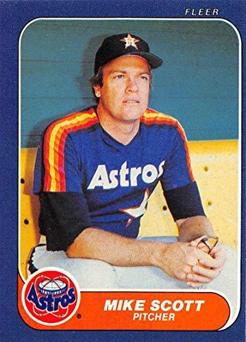(1986 Fleer Baseball #311 Mike Scott Houston Astros Official MLB Trading Card)