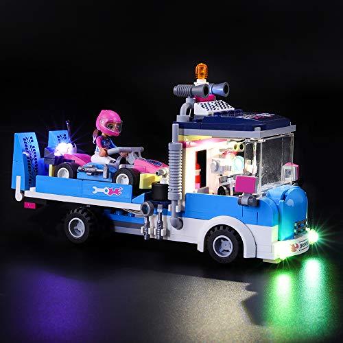 Juego de luces LIGHTAILING para bloques de construcción (Friends Service and Care Truck) Modelo - Kit de luces LED Compatible con Lego 41348 (NO incluido el modelo)